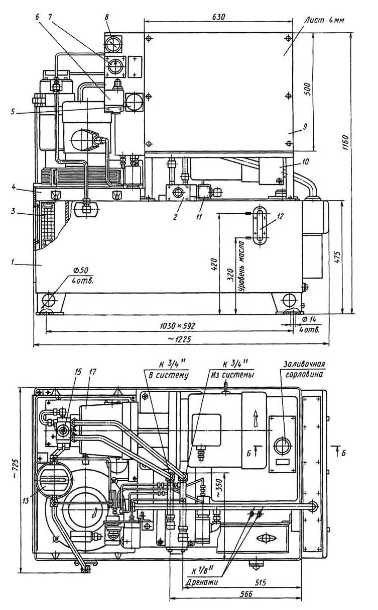 Установка насосная (гидростанция) Г 48 - рисунок 3