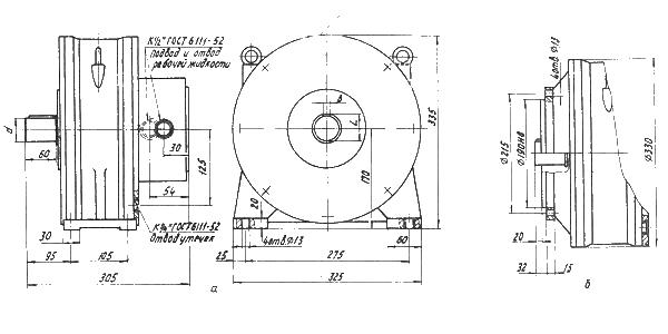 Габаритные и присоединительные размеры гидромоторов