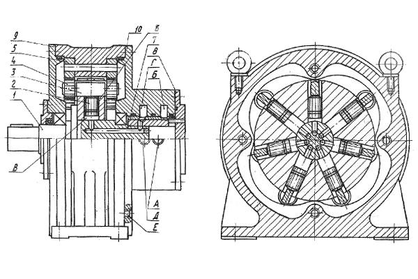 Конструкция радиально-поршневого гидромотора типа МР